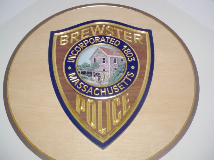 Brewster Police lobby shield coloseup1