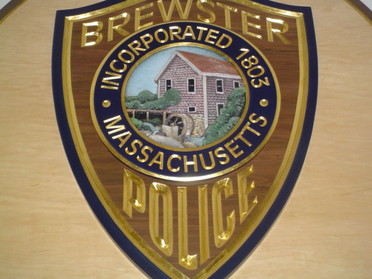 Brewster Police lobby shield coloseup2