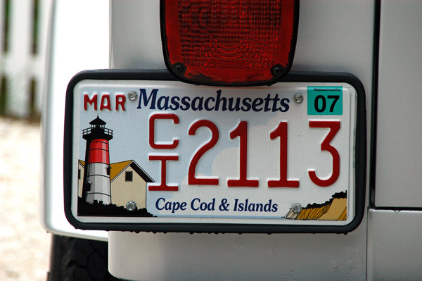Another Cape & Islands license plate