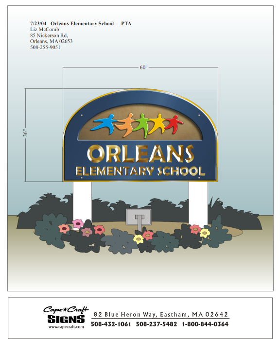 Orleans Elementary School sign