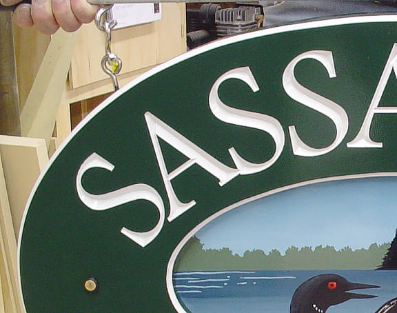 Sassafras Springs carve detail