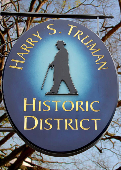 Harry S. Truman completed sign, installed in Independence, MO